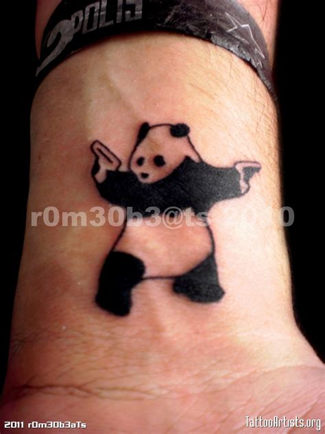 gangster couple tattoos gangsta panda