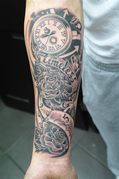 time tattoos designs forearm half sleeve ideas amazing