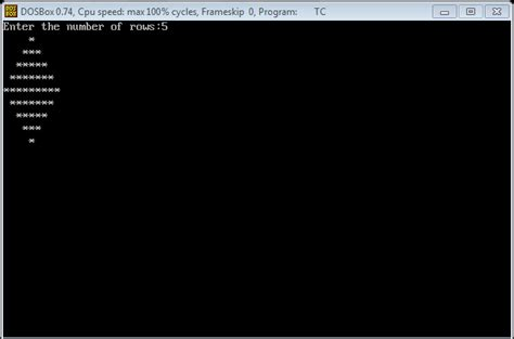 pattern type c program programming with c and c diamond pattern stars in c