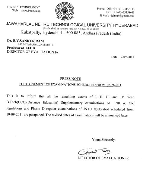 Jntuh Mba Results Manabadi by Jntu Hyderabad Postponement Of B Tech Ccc And Iii