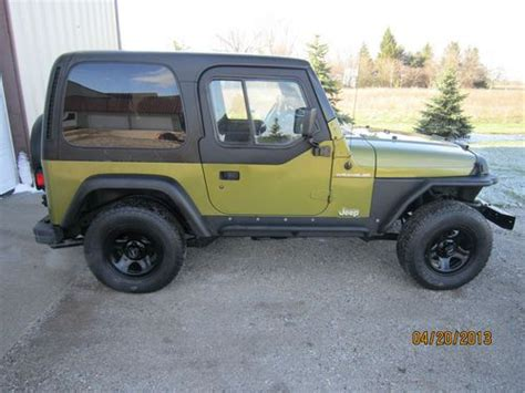 Jeep Wrangler Fenders For Sale Find Used 1997 Jeep Wrangler Tj Auto 4x4 Citron Green