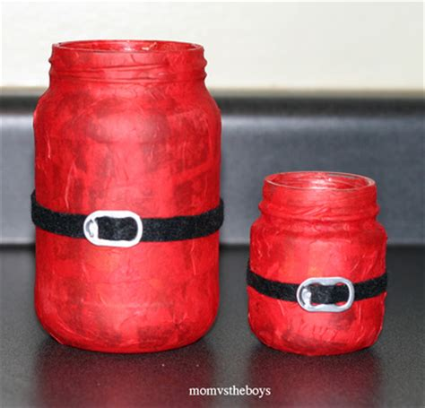 christmas crafts with baby food jars santa candles jar crafts allfreechristmascrafts