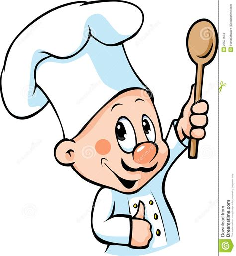 clipart cuoco cucchiaio di legno della tenuta cuoco unico