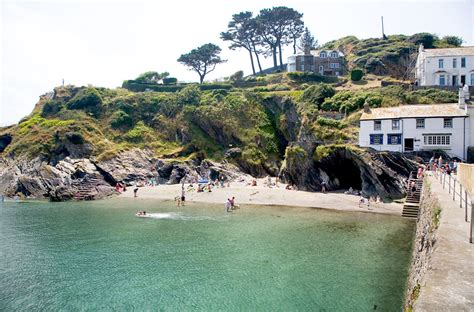 Pier Cottage Caravan Park by Polperro From The Pier Cornwall Guide Photos