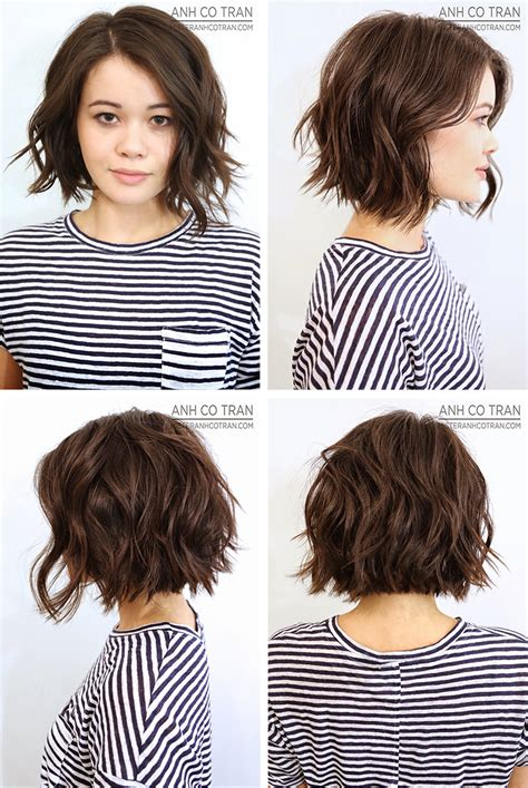 styling shaggy bob hair how to anh co tran bob front left side right side and back