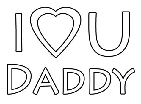 I Love You Daddy Coloring Pages Coloringstar I You Coloring Page