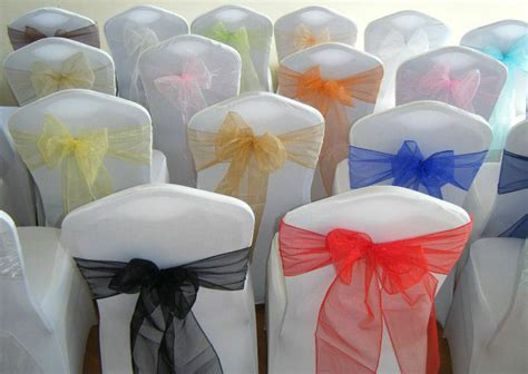 chair cover bows for weddings chair cover sashes bows organza new uk for weddings best