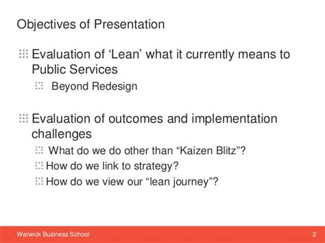 Warwick Mba Review by Beyond Redesign Other Dimensions Of Lean Implementation