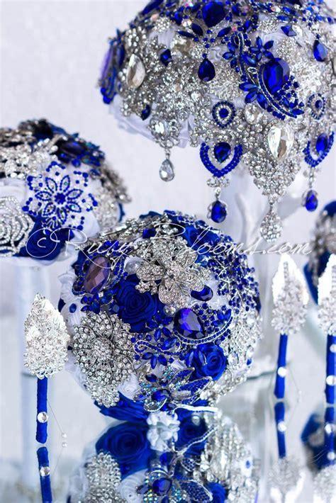 68 best Royal Blue/Navy/Cobalt Wedding Brooch Bouquets