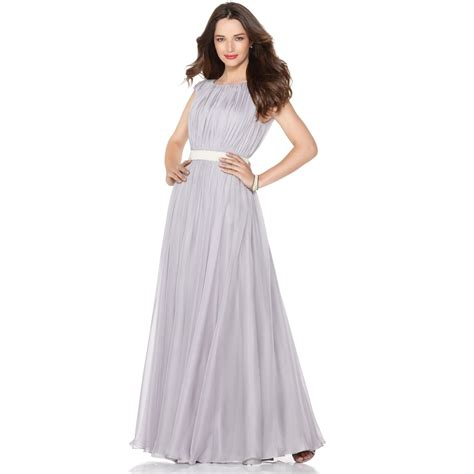 gaaoun drees lyst js collections dress sleeveless pleated beaded