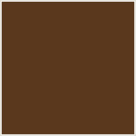 Pantone Color Code 5b391e hex color rgb 91 57 30 metallic bronze