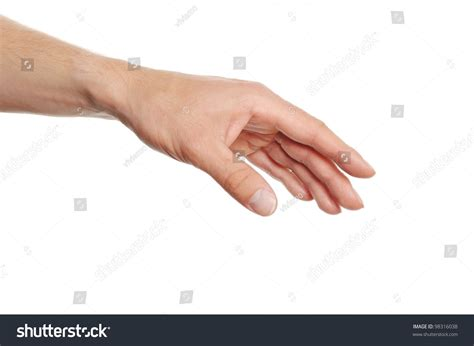 How To Find Out How Many Search Something On Human Reaching For Something Isolated On White Background Stock Photo 98316038