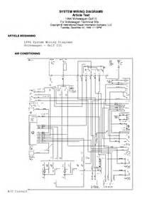 volkswagen vw golf iii 3 94 elektromos rajz service manual