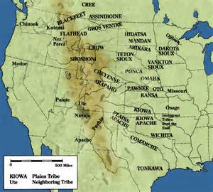 plains of map plains tribes