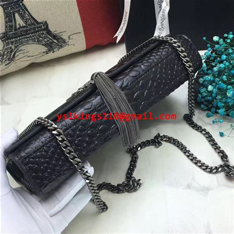 ysl monogram tassel chain bag cm snake black ysl
