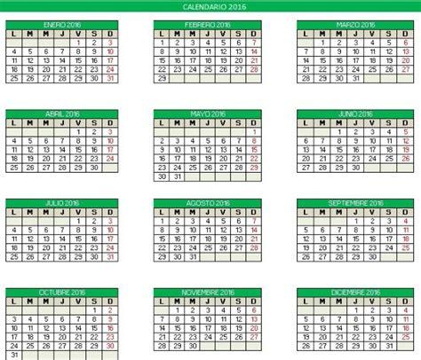 Calendario 2017 Editable Excel Calendario 2016 Editable En Excel Para Imprimir Oficientes