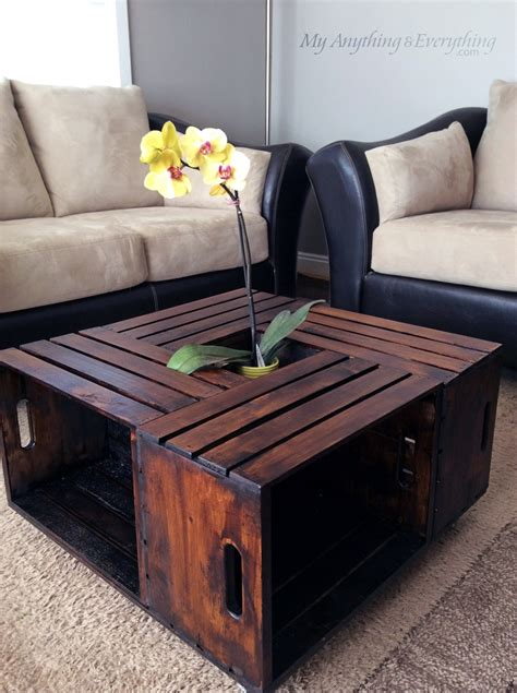Diy Wooden Crate Coffee Table Diy Wooden Crate Coffee Table Woodworking Projects
