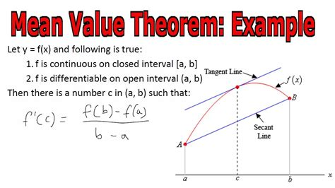 mean value theorem exle youtube