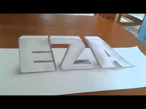 tutorial gambar 3d art gambar nama 3d youtube