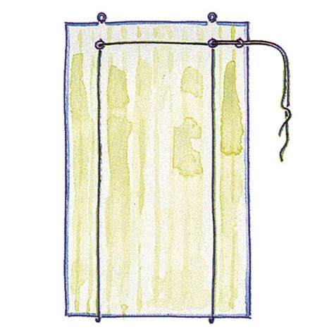diy roll up curtains make a roll up blind thread the cord through the screw eyes
