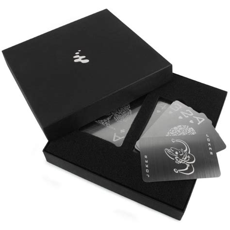 deck of cards buy stainless steel cards the green