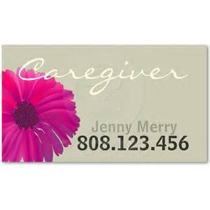 caregiver business cards flower caregiver business card template from zazzle