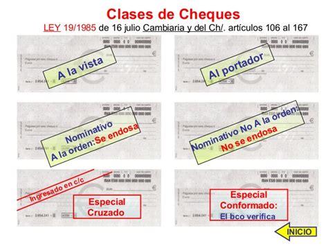 ley 191985 de 16 de julio cambiaria y del cheque documentos mercantiles 2