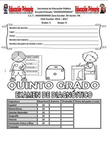 examen de la sep de quinto grado con sus respuestas examen de diagn 243 stico para el quinto grado del ciclo