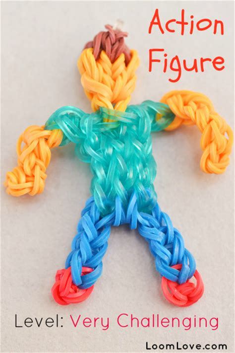 make a figure how to make a rainbow loom figure