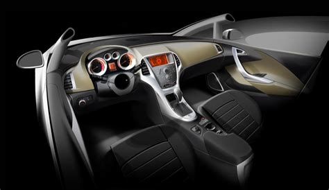 opel astra interior revealed pics  autoevolution