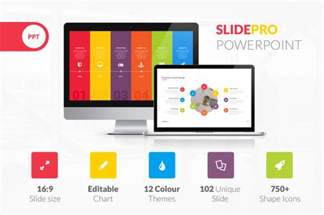 one slide presentation template slide pro powerpoint presentation template
