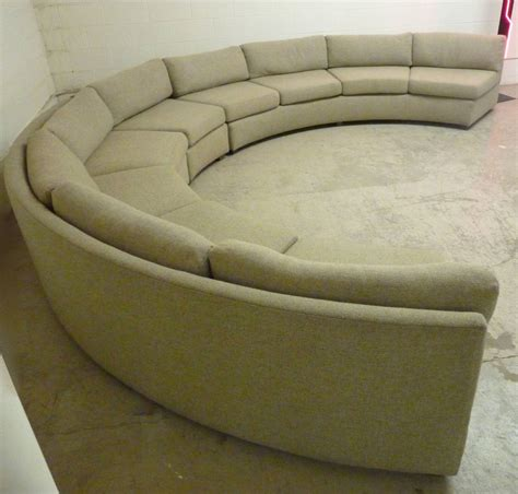 Big Sectional Sofas Large Curved Milo Baughman Sectional Sofa At 1stdibs