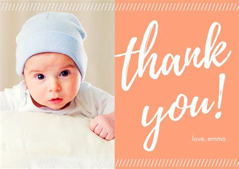 Baby Thank You Cards With Photo Template
