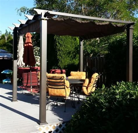 steel pergola with canopy 9 1 2 ft x 9 1 2 ft steel pergola with canopy