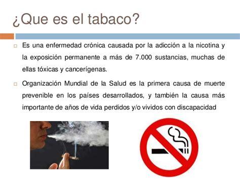 que sustancias tiene el cigarro y sus efectos perjudiciales tabaquismo