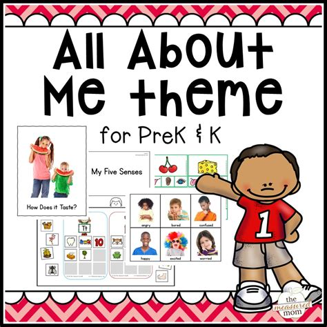 All Themes all about me theme pack for pre k k the measured