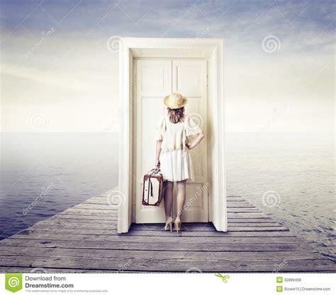 Waiting At Door by Waiting In Front Of A Door Stock Photo Image 32889406