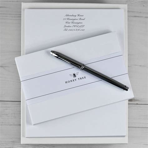 premium writing paper premium personalised writing paper set a4 by honey tree