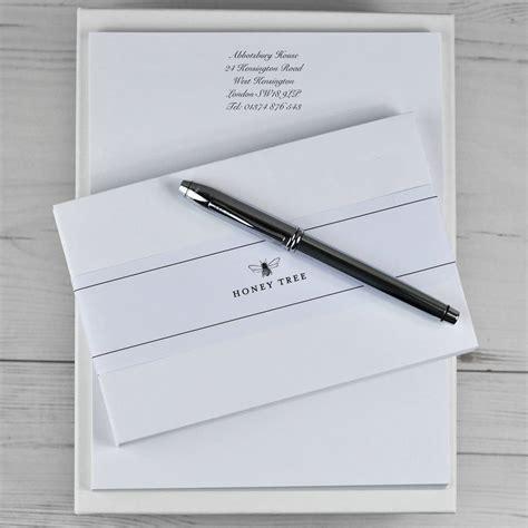personalised writing paper sets premium personalised writing paper set a4 by honey tree