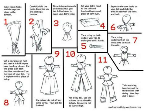 corn husk dolls step by step the world s catalog of ideas