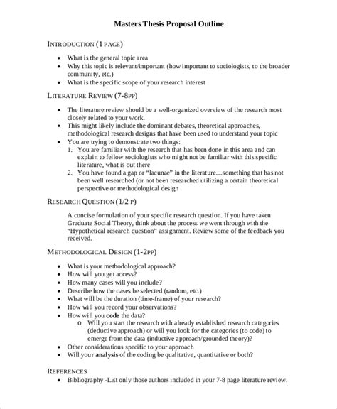 thesis proposal template 8 free word pdf document