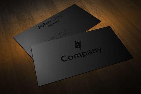Black On Black Business Cards