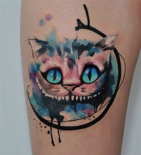 watercolor tattoo o que é cheshire cat on