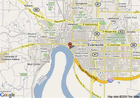 map of evansville indiana map of casino aztar evansville