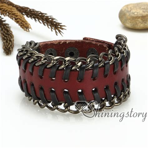Leather Handmade Bracelets - genuine leather wristbands handmade leather bracelets with