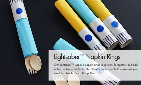 printable star wars napkin rings lightsaber napkin rings pottery barn kids