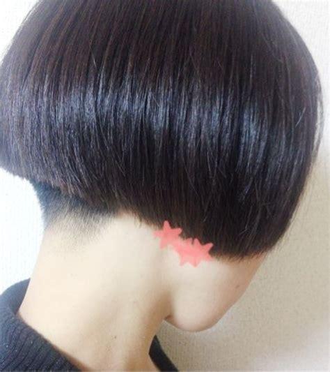 natural hair shaved nape buzzed nape bob frisuren pinterest bobs short bobs