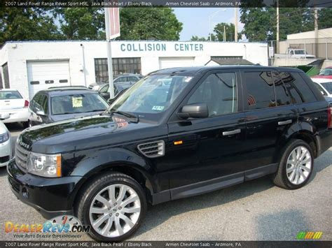 land rover 2007 black 2007 land rover range rover sport hse java black pearl