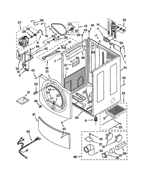 kenmore stackable dryer diagram kenmore model 417 washer