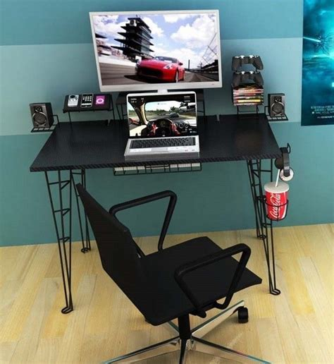 gaming computer desk table for pc xbox ps4 monitor